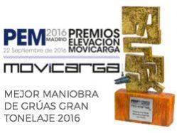 Premio a la Mejor Maniobra de Grúas Gran Tonelaje 2016